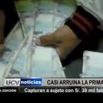Trujillo: PNP capturan a sujeto con 38 mil soles falsificados