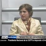 Presidenta Nacional de la CGTP le responde a Urresti