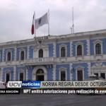 Municipalidad Provincial emitirá autorizaciones para realización de eventos