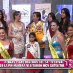 Reinas y bastoneras del 64° Festival de Primavera visitaron UCV Satelital