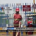 Fuga de gas generó preocupación en una estación de servicios