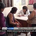 Campaña masiva de despistaje de cáncer de cuello uterino