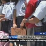 Piura: Disponen revisar mochilas de escolares tras violencia en colegios
