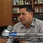 SAIMT realizará subasta de 11 inmuebles municipales