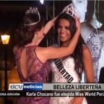 Karla Chocano fue elegida Miss World Perú 2015
