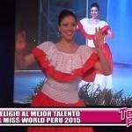 Se eligió al Mejor Talento del Miss World Perú 2015
