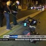 Motociclista murió en accidente de tránsito