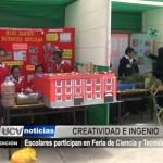 Escolares participan en Feria de Ciencia y Tecnología