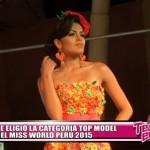 Se eligió la categoría Top Model del Miss World Perú 2015