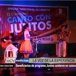 Beneficiarios de programa Juntos cantaron en concurso