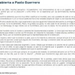 ¿La carta de un indignado hincha a Paolo Guerrero es una farsa?
