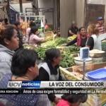 Amas de casa exigen formalidad y seguridad en La Hermelinda