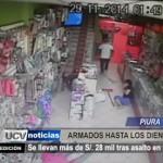 Piura: Se llevan más de 28 mil soles tras asalto en tienda