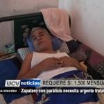 Ayuda social: Zapatero con parálisis necesita urgente tratamiento