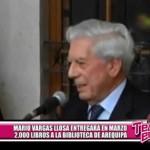 Mario Vargas Llosa entregará dos mil libros a biblioteca de Arequipa