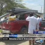 Piura: Delincuentes se llevan 30 mil en asalto a conductor de ferretería