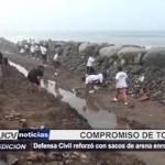 Defensa Civil reforzó enrocado de Buenos Aires