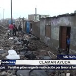 Familias piden urgente reubicación por temor a fuerte oleaje