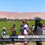Ronderon califican a presidente Ollanta Humala como traidor