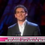 Juan Diego Flórez batió récord de aplausos en La Scala de Milán
