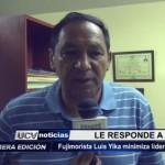 Fujimorista Luis Yika minimiza liderazgo de expresidente Toledo