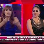 Magaly Medina asegura que Tilsa Lozano puso condiciones en entrevista