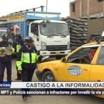 MPT y Policía sancionan a infractores por invadir la vía pública