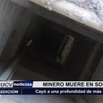 Minero muere en socavón