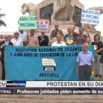 Profesores jubilados piden aumento de sus pensiones