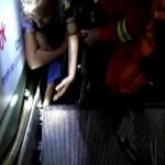 Un niño fue víctima de un nuevo accidente en una escalera eléctrica