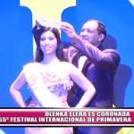Olenka Elera es coronada reina del 65° Festival Internacional de la Primavera