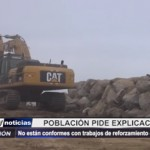Trujillo: Población pide explicaciones sobre reforzamiento de enrocado