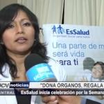 Trujillo: EsSalud inicia celebración por la Semana del Donante