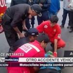 Trujillo: Motociclista impacta contra panel publicitario