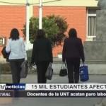Trujillo: Docentes de la UNT acatan paro laboral de 72 horas