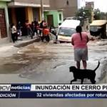 Trujillo: 32 viviendas afectadas por rotura de tubería