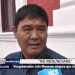 Trujillo: Vicegobernador Julio Miyamoto asegura que no dimitirá a APP