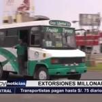 Trujillo: Transportistas pagan hasta 75 soles diarios al hampa