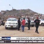 El Porvenir: Joven es asesinado de 4 balazos por una riña en plena fiesta