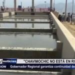 """Gobernador regional: """"Chavimochic no está en riesgo"""""""