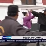 Trujillo: Vendedoras ambulantes agreden a agentes ediles tras decomiso de mercadería