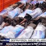 Trujillo: Arsenal de armas de fuego incautado por la PNP fue destruido