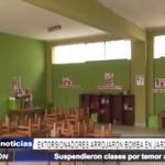 Alto Trujillo: Extorsionadores arrojan bomba a jardín de infancia y dejan carta a directora