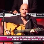 Gian Marco recorrerá el Perú con el Festival Claro 2016