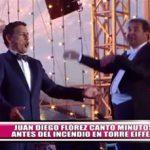 Juan Diego Flórez cantó minutos antes del incendio en torre Eiffel