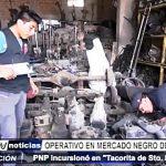 Trujillo: PNP realizó operativo en mercado negro de autopartes