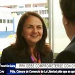 La Libertad: Rosario Bazán pide que PPK impulse tercera etapa de Chavimochic