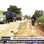 Conache: 160 mil soles se invertirán para ampliar 10 kilómetros de carretera
