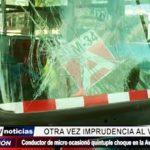 Trujillo: Chofer de microbús ocasionó múltiple choque en avenida Nicolás de Piérola