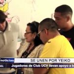 Trujillo: Jugadores de Club UCV llevan apoyo a Yeiko bebé de 3 meses